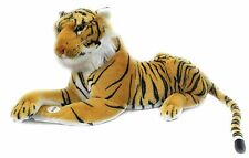 Tiger Medium Soft Plush Toy With Sound ~ Gold