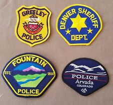 USA - 4 x Different Colorado Police Patches