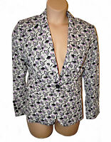 BNWT size 16 M&S WOMAN by Marks and Spencer Button SMART JACKET in GREY MIX