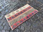 Bohemian rug, Vintage small rug, Handmade wool rug, Doormats | 1,7 x 3,1 ft