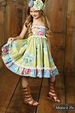 NWT Girl Mustard Pie Apple Blossom Ashton Dress Blue Floral Multi Girls sz 3T