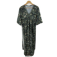 SOHA Womens Dress Size Medium (AU 10) Made In Italy Floral Browns Greens