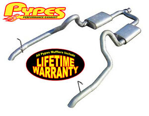 "1998-2004 Ford Mustang V6 3.8L 2.5"" Complete Conversion Cat Back Exhaust System"