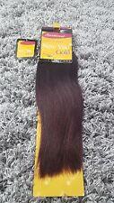"(BLACK/DEEP RED DIP DYE 14"") Hair Extensions Full Weft 100% Real Human Hair"