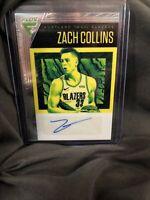 2019-20 Panini Chronicles Flux Autographs #1 Zach Collins /99