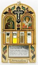Home Blessing Icon Jordan Water Jerusalem Stones Galilee Oil Incense Silve Cross