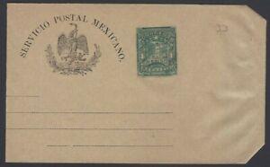 Mexico 1898 1c green wrapper unused HG #E33