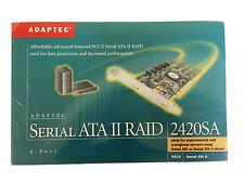 NEW Adaptec PCI-X Serial ATA II Raid 4-Port Server Controller Card 2420SA