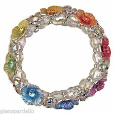 Kirks Folly Rainbow Fairy Flower Garden Stretch Bracelet auroa borealis crystals