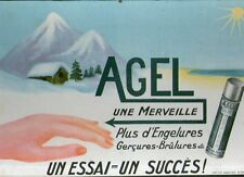 Carton publicitaire ancien AGEL POMMADE engelure hiver pub rare affiche pharmaci