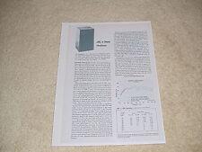 JBL L-166 Horizon Speaker Review, 1 pg, 1976, Full Test