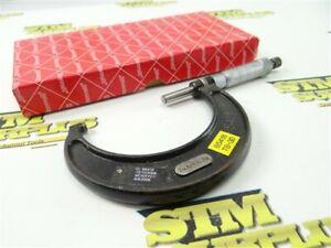 """STARRETT PRECISION OUTSIDE MICROMETER NO. 436 2""""-3"""" X .001"""" CARBIDE FACED + BOX"""