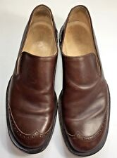 Paul's Leather Brown 44 & 45 Mismatch Size Shoes Slip On Brogue Cap Toe Italy
