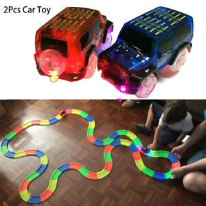 DIY Assembly Electric Race Track Magic Rail Car Toys Educational Toy  for Kids