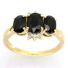 Wedding Sapphire Yellow Gold Natural Fine Rings