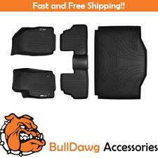 All Weather Floor Mats Set and Cargo Liner Bundle for Encore / Trax (Black)