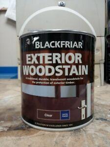Blackfriar Exterior Wood Stain Clear Satin Finish