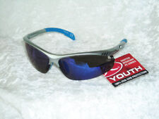 NEW RAWLINGS YOUTH PRO Baseball softball protection sunglasses BLUE Mirror NWT!