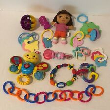 Baby Toys Rattles Teethers Lot of 15 Developmental Play Nuby Links Stroller Toy