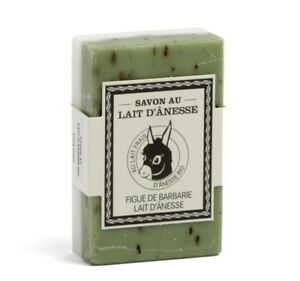 Double Face Donkeys milk French soap with Fig to Moisturise And Exfoliate