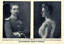Hochzeit im Kaiserhaus Prinz August Wilhelm von Preußen Prinzessin Alexandra1908