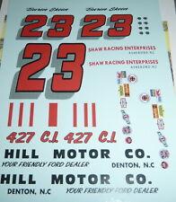PPP DECALS #23 BUREN SKEEN 1964 FORD GALAXIE HILL MOTOR CO,DENTON NC,SHAW 1/25