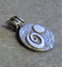 925 STERLING SILVER ARTISAN SPIRAL UNIVERSE PENDANT~OOAK~ABSTRACT COSMIC DESIGN