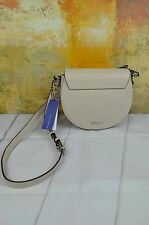 $295 NWT Rebecca Minkoff Astor Saddle Crossbody Bag Leather In Stone/ Taupe