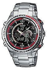 New Casio Gents Watch Edifice Round Stainless Steel Case Water Resistant Watch