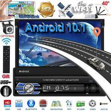 "Single 1Din 7"" Android 10.1 GPS Navigation Flip Up Car Stereo Radio USB MP5+ Cam"