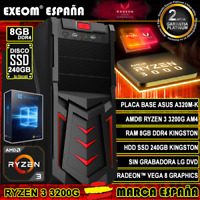 Ordenador Gaming Pc AMD Ryzen 3 3200G 8GB DDR4 SSD 240Gb de Sobremesa Windows 10
