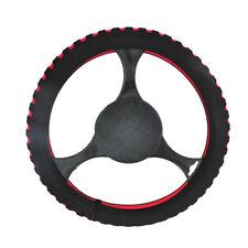 Red & Black Foam Steering Wheel Cover/Glove Soft/Padded Car/Van Universal Fit Ne