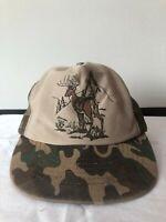 Vintage Camouflage Buck  Baseball Hat Snapback Cap Trucker Mesh