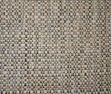Hogan Pebble Blue Grey Chenille Basketweave Textured Upholstery Fabric