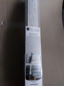 ROOM MATES RMK11078WP Grasscloth Grey Peel & Stick Wallpaper-NIP