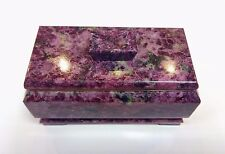 Eudialyte jewelry box from Russia. Kola Peninsula.