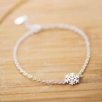 Armband 925 Silber mit Anhänger Schneeflocke