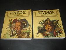 LIBRO DON QUIJOTE DE LA MANCHA. ED. VERON 1975. PORTADA MARIGOT. 2 TOMOS