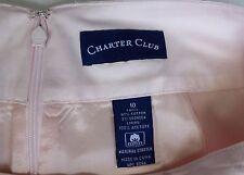 Women Pensil Skirt Pink Lined Sz 10 NEW $45 School Office Charter Club