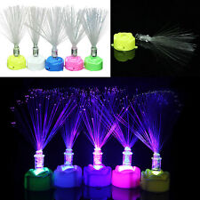 Colorful LED changeant fibre optique Night Light Lamp stand jardin Décor