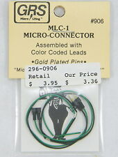 GRS #906 MLC-1 MICRO-CONNECTOR W/COLOR CODED LEADS GOLD PLATED PINS