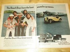 Vintage 1970s Craig Powerplay Car Stereo Advertisement with The Beach Boys 2 pgs