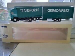 RARISSIME DAF XF 95 CAMION REMORQUE TAULINER TRANSPORT GRIMONPREZ LBS ELIGOR