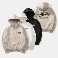 Stussy Men's Women's World Tour Hoodie Logo Printing Sweatshirt Plus Cotton #056