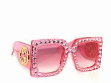 FINAL SALE~GUCCI GG0145S 0145/S 001 PINK LIMITED EDITION *RIHANNA SunglaSSeS
