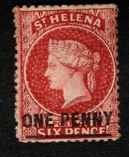 St Helena 1864 SG6 1d Lake S'd One Penny (Type A) Wmk Crown CC MM Cat £70.00