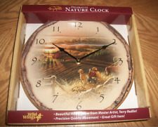 Best Friends 11 inch Wall Clock Black Hands Terry Redlin Wild Wings #4209092508