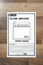 OWNERS MANUAL for Crate GX-20M guitar amplifier / guitar amp