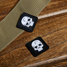 2 Pcs T-Skull TAD PVC 3D Tactical ARMY MORALE  PATCH for Clothes&Bag