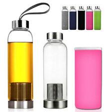 550ML verre jus thé Gourde potable filtre infuseur couvercle tasse Mug BPA libre